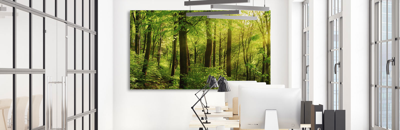 Akustikbilder bringen Ihnen mit wenig Aufwand eine gute Raumakustik im Büro